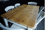 Picture of Rustic Pine 5ft Farmhouse table + 6 Spindle Back chairs