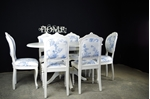 Picture of French Style Extending Dining Table With 4 Antique and 2 Vintage Louis Chairs