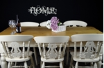 Picture of 6ft Country Pine Farmhouse Table + 8 Beech Fiddleback Chairs.