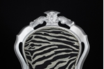 Picture of Silver Louis-Style Chairs with Zebra Print Fabric