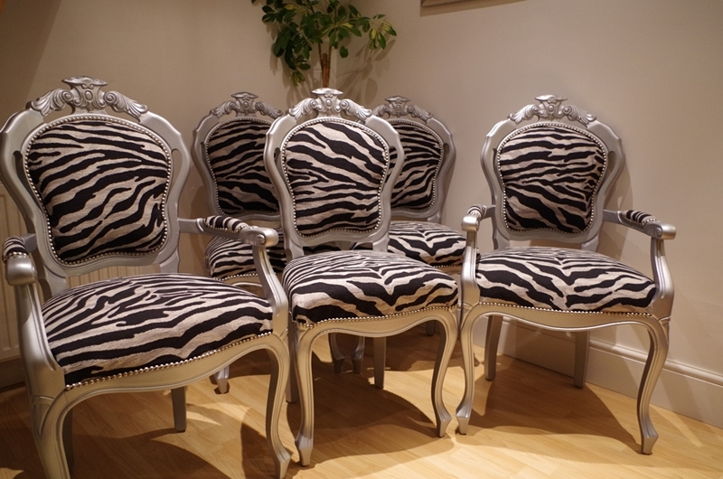 Silver Louis Style Chairs with Zebra
