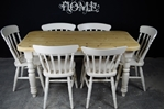 Picture of 5ft Pine Farmhouse Table + 6 Beech Slat Back Chairs