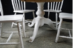 Picture of Round Pedestal Pine Table + 4 Farmhouse Chairs