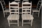 Picture of Oval Pine Twin Pedestal Table + 6 beech ladder backed chairs