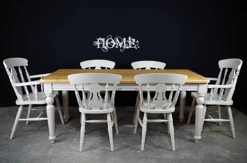 Pine Fiddleback Kitchen Chairs