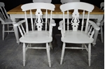 Picture of 6ft Country Pine Farmhouse Table + 6 Beech Fiddleback Chairs.