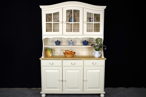Picture of Country Pine Dresser with Curved Display Doors
