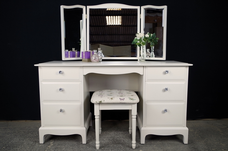 Stag drawer dressing table and stool butterflies