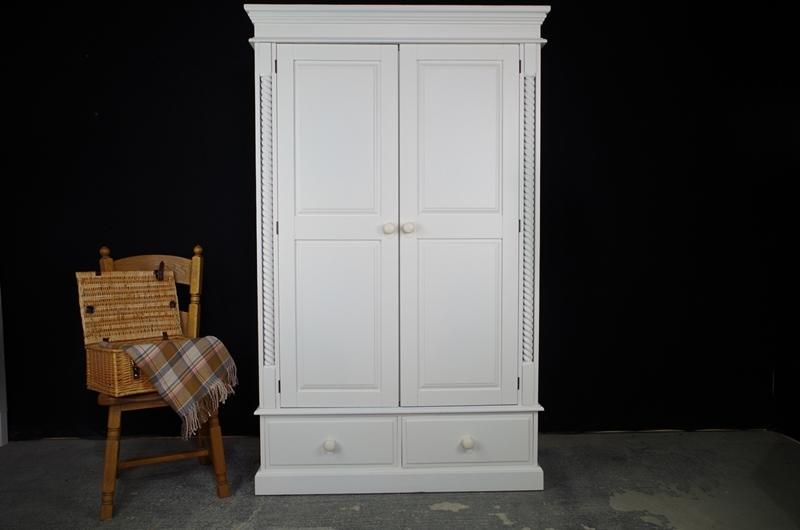 Picture of Two door Barleytwist pine wardrobe