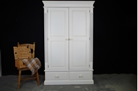 Picture of Two door Barleytwist pine wardrobe