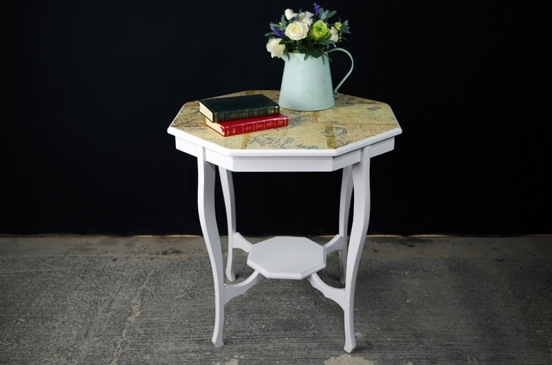 Picture of Decoupaged Octagonal French Style Occasional Table