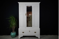 Picture of Antique Wardrobe /Hall Cupboard with Mirrored Door