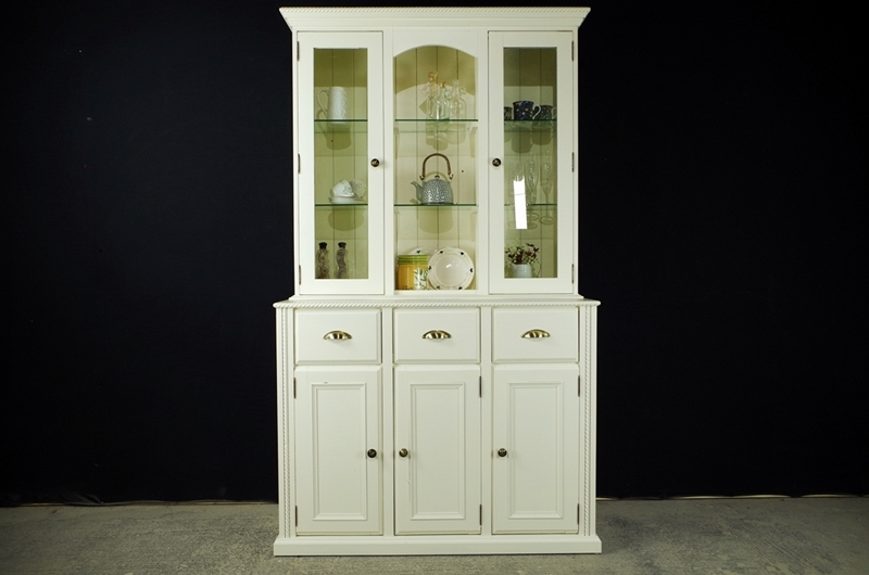 Picture of Pine Display Dresser in New White