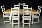 Picture of Pine Extending Table + 6 Ladderback chairs