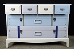 Picture of Stag Six Drawer Chest - Travel Themed