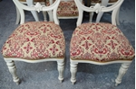 Picture of Antique Extending Wind Out Table and 6 Balloon Back Chairs