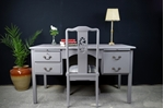 Picture of Vintage Desk with Carved Dragon Chair