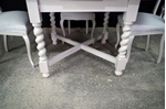 Picture of Antique Oak Draw Leaf Table + 4 Pierced Back Antique Chairs
