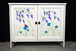 Picture of Bedroom TV Stand / Bookcase - Original Flower Art