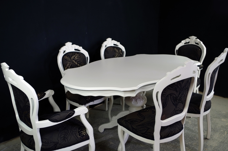 Terrific French Style Dining Table With 6 Louis Chairs Painted Camellatalisay Diy Chair Ideas Camellatalisaycom