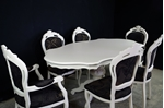 Picture of French Style Dining Table with 6 Louis Chairs