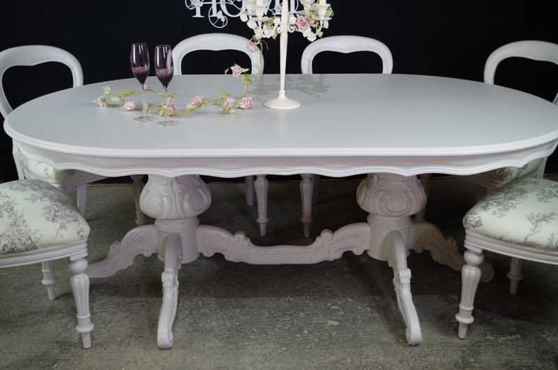 lot double item baker dining table pedestal