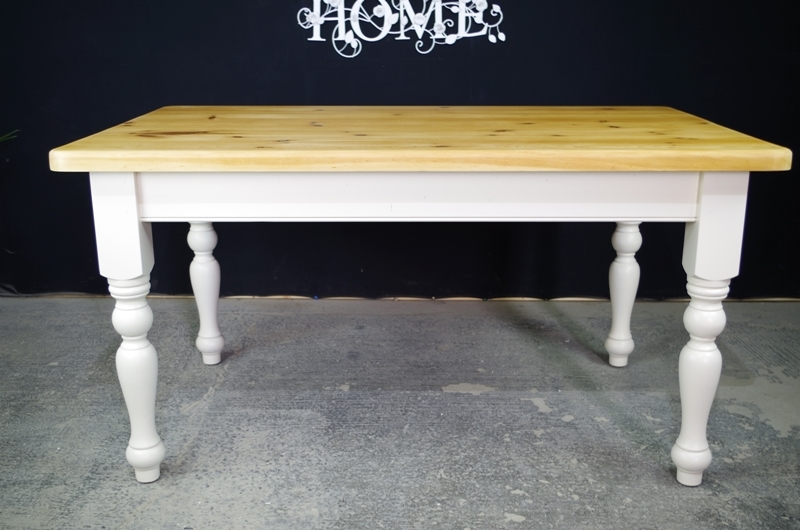 Picture of 5ft Country Pine Farmhouse Table - optional chairs