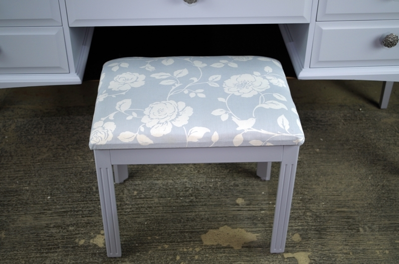 Stag Dressing Table with Stool in Parma Grey Painted  : 0013086stag dressing table with stool in parma grey from www.thefettlingfairies.com size 800 x 530 jpeg 264kB