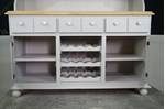 Picture of Large Country Pine Dresser with Wine Racks
