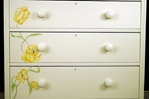 Picture of Antique Edwardian 5 Drawer Chest with Flower Art