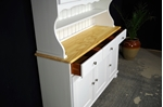 Picture of Country Pine Dresser with Curved Display Doors in Titania