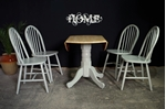 Picture of New Latiano Round Pedestal Drop Leaf Table + 4 Windsor Chairs