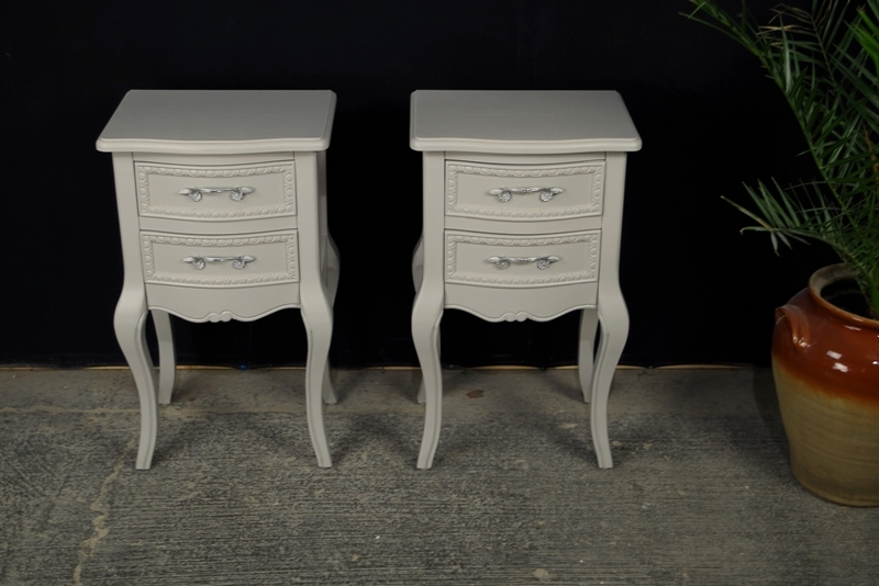 Charmant Picture Of Two New French Country Style Bedside Tables