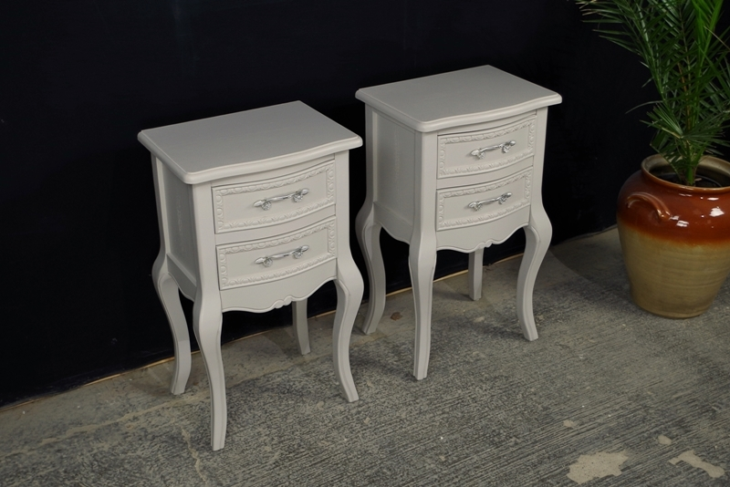 Beau Picture Of Two New French Country Style Bedside Tables