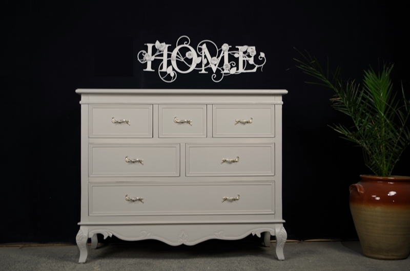 French Style 6 Drawer Chest-Painted Vintage, Antique & Farmhouse ...