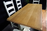 Picture of Oak Refectory 6 ft Table, 4 Oak Chairs + Rustic Pine Bench