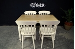 Picture of Farmhouse Table with Corkscrew legs + 4 new beech farmhouse chairs