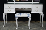 Picture of Vintage French Style Dressing Table with Stool