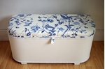 Picture of Vintage Lloyd Loom Ottoman - Royal Blue Summer Palace
