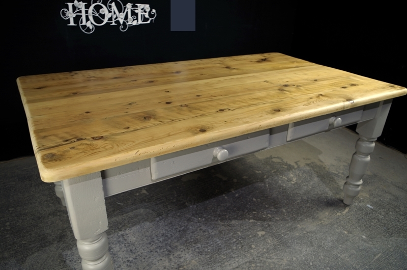 0013450_large reclaimed pine 6ft farmhouse table and 8 fiddleback chairs