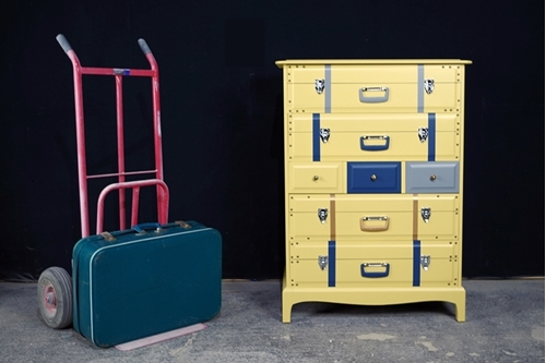 Picture of Travel Themed Stag 7 Drawer Tall Chest