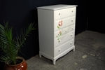 Picture of Stag Tall 7 Drawer Chest Peonies + Roses Artistic Design
