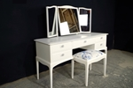 Picture of Stag Dressing Table with Stool in Wimborne White