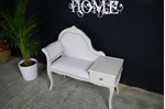 Picture of Vintage French Style Occasional Seat with Side Table +Drawer