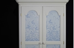Picture of 2 Door Pine Wardrobe with Butterfly Lace Paint Effect