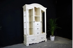 Picture of Carved Glass Display Cabinet with drawers