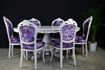 Picture of French Style Dining Table + 6 Chairs Crushed Velvet
