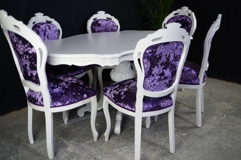 Upholstered Dining Chairs Round Table