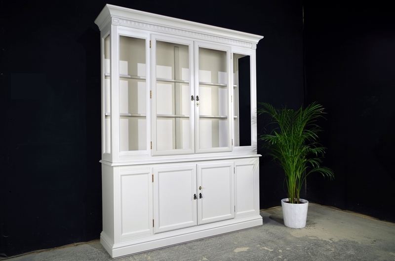 Picture Of Wide Display Cabinet In Spell Grey
