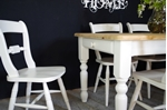 Picture of Pine 5ft Farmhouse Table and 6 Beech Oxford Bar Back Chairs